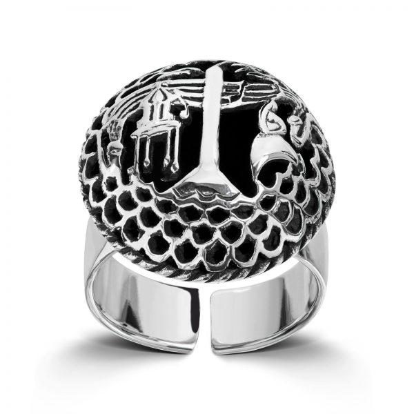 Mestergull Regulerbar sølvring med motiv fra Haugesund LOKAL BUNAD Ring
