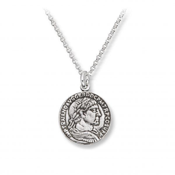 Mestergull Trendy anheng mynt i oksidert sølv GID Anheng