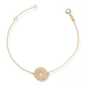 Mestergull Trendy armbånd i gult gull, Kompass MESTERGULL Armbånd
