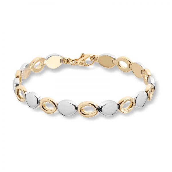 Mestergull Elegant armbånd i gult gull og hvitt gull MESTERGULL Armbånd