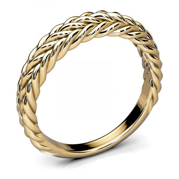 Mestergull Spesialdesignet ring i gult gull med vikinginspirert mønster etter oldtidsfunn fra Vestfold DESIGN STUDIO Spesialdesign Ring