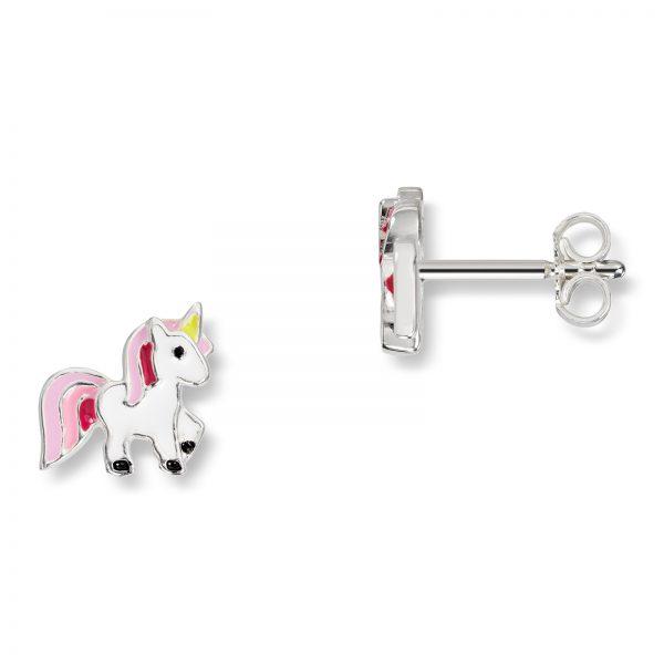 Mestergull Søt ørepynt i sølv med hvit og rosa lakk MG BASIC Ørepynt
