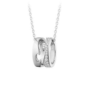 Mestergull Fusion anheng i hvitt gull med diamanter GEORG JENSEN Fusion Anheng