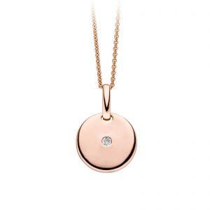 Mestergull Flott anheng i rosèforgylt sølv med cubic zirkonia VIVENTY Anheng