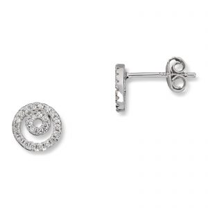 Mestergull Flott ørepynt i rhodinert sølv med cubic zirkonia MG BASIC Ørepynt