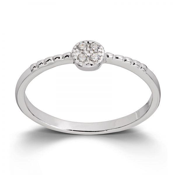 Mestergull Elegant ring i rhodinert sølv med cubic zirkonia MESTERGULL Ring
