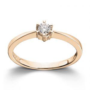 Mestergull Klondike? er enstens serien med de gode prisene. Et elegant design med matchende diamantring, anheng og ørepynt i gult eller hvitt gull. Diamanten velger du i størrelsene 0,03 ct. til 0,20 ct. KLONDIKE Ring