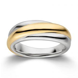 Mestergull Flott ring i rhodinert og forgylt sølv VIVENTY Ring