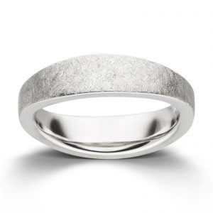 Mestergull Enkel ring i rhodinert ismatt sølv VIVENTY Ring