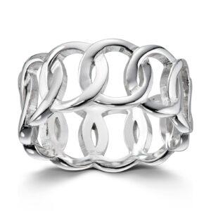 Mestergull Flott ring i rhodinert sølv GID Ring