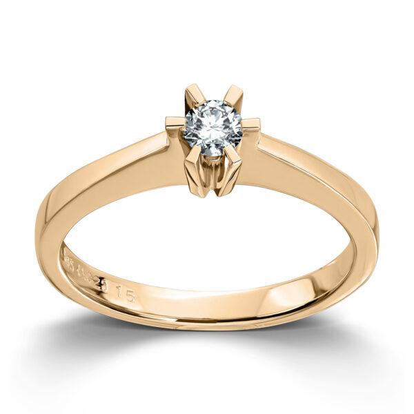 Mestergull Cinderella? er en stram og lekker Solitaire modell med matchende diamantring, anheng og ørepynt i gult eller hvitt gull. Velg mellom diamanter i størrelser fra 0,10 ct. til 2,00 ct. CINDERELLA Ring