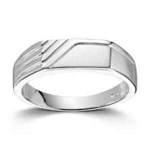 Mestergull Flott herre ring i rhodinert sølv MESTERGULL Ring