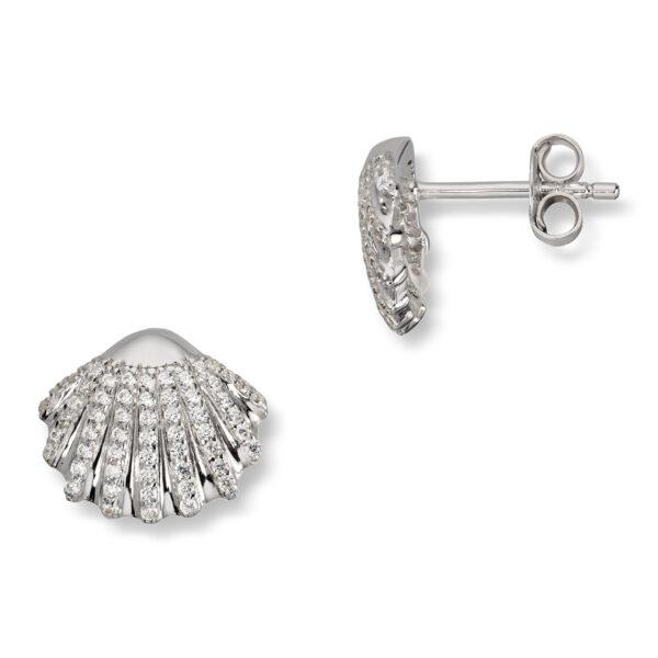 Mestergull Flott ørepynt i rhodinert sølv med krystal GID Ørepynt