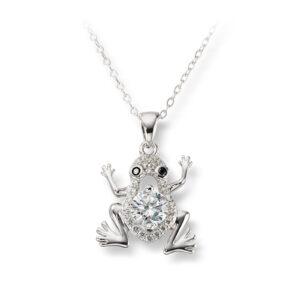 Mestergull Søtt kjede i rhodinert sølv med crystal MESTERGULL Anheng