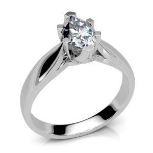 Mestergull Ring utviklet etter skisse fra kunde til hennes marquise diamant på 0,97 ct. Ringen er laget i hvitt gull 585 DESIGN STUDIO Spesialdesign Ring