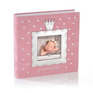 Mestergull Fotoalbum til prinsessen i tinn og rosa velur med plastlommer til bilder inntil 10 x 15 cm. FOR PRINSESSER Ramme
