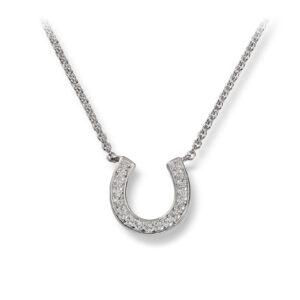 Mestergull Flott kjede i rhodinert sølv med cubic zirkonia GID Anheng