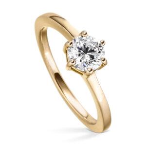 Mestergull Stilren ring i forgylt sølv med cubic zirkonia VIVENTY Ring