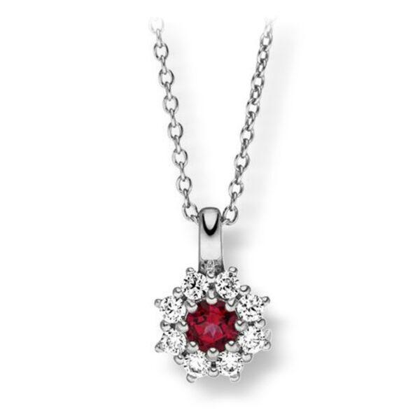 Mestergull Elegant anheng i rhodinert sølv med cubic zirkonia og syntetisk topas farge blazing VIVENTY Anheng