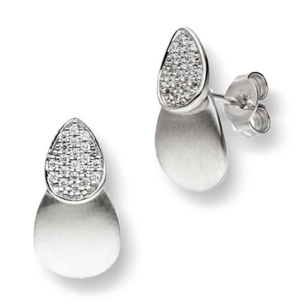 Mestergull Lekker ørepynt i rhodinert sølv med cubic zirkonia VIVENTY Ørepynt