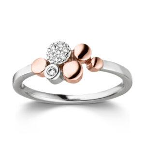 Mestergull Flott ring i rhodinert ofr rosèforgylt sølv med cubic zirkonia VIVENTY Ring