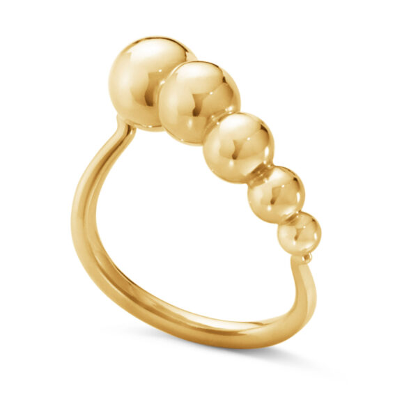 Mestergull Moonlight Grapes ring i 18kt gult gull GEORG JENSEN Grape Ring
