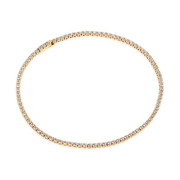 Mestergull Armbånd i sølv 925S forgylt med 18K gull, med blankpolert overflate og fasettslepne klare Zirkonia. SIF JACOBS JEWELLERY Ellera Armbånd