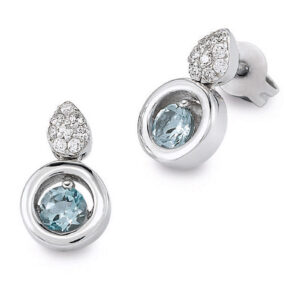 Mestergull Lekker ørepynt i rhodinert sølv med blå topas og cubic zirkonia VIVENTY Ørepynt