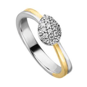 Mestergull Delikat ring i rhodinert og forgylt sølv med cubic zirkonia VIVENTY Ring
