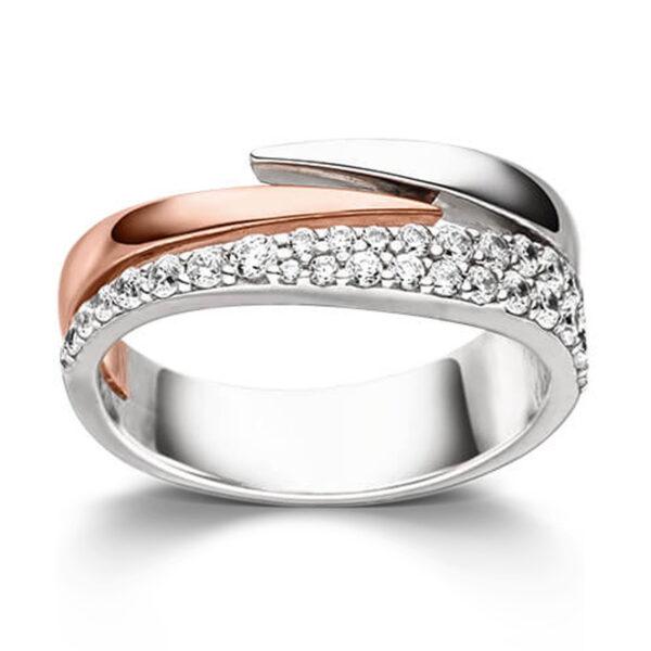 Mestergull Lekker ring i rhodinert og roseforgylt sølv med cubic zirkonia VIVENTY Ring