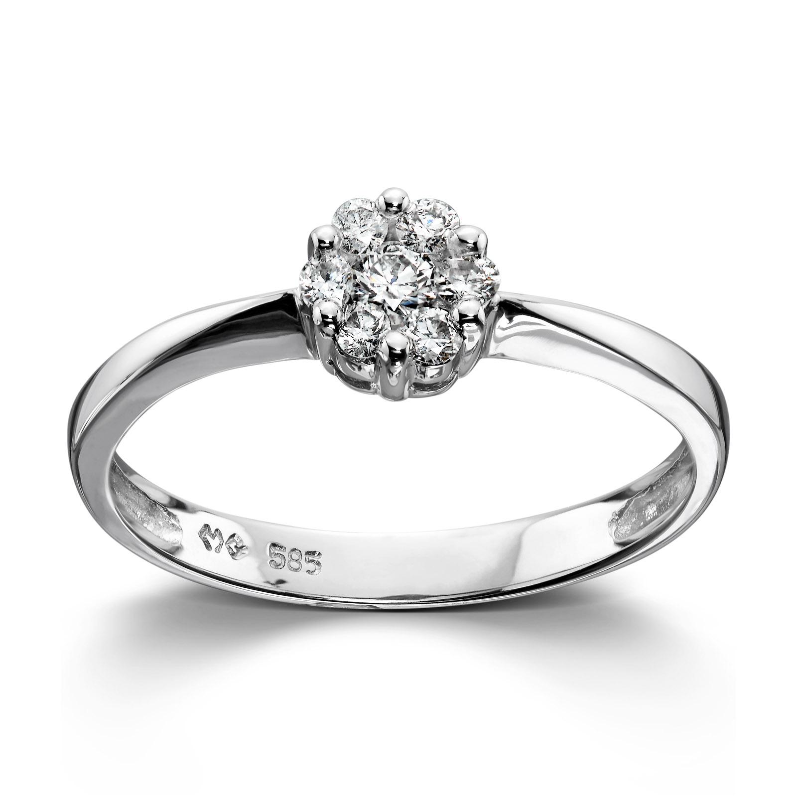 a73f346d Mestergull Stilren ring i hvitt gull med diamanter MG DIAMONDS Ring