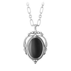 Mestergull Heritage Anheng i sølv med sort Onyx GEORG JENSEN Heritage Anheng