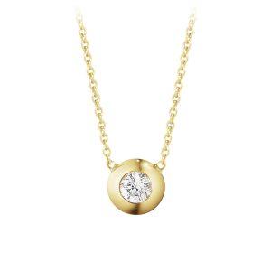 Mestergull Aurora Anheng i 18 K Hvittgull med diamanter GEORG JENSEN Aurora Anheng