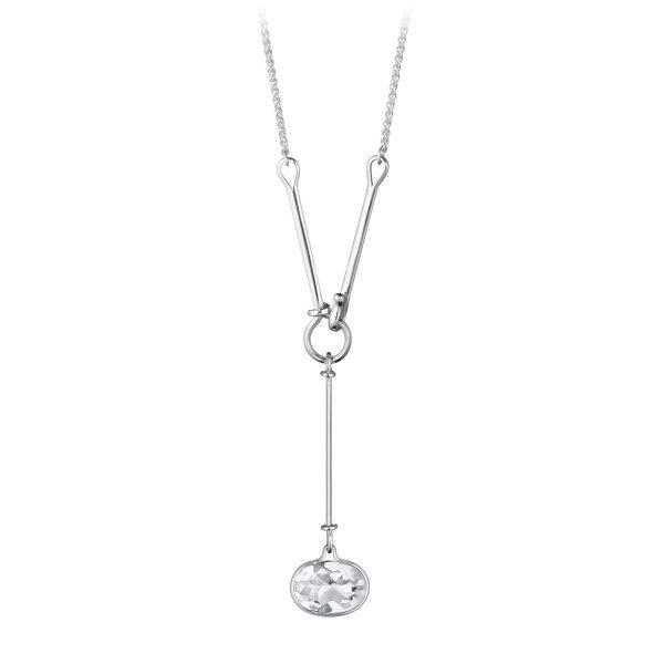 Mestergull Savannah Halssmykke i sølv med Bergkrystall GEORG JENSEN Savannah Anheng