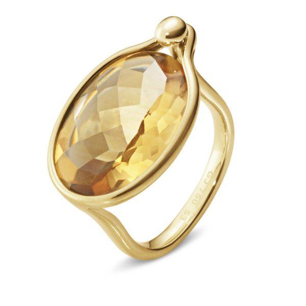 Mestergull Savannah Ring i 18 K Gult Gull med Citrin GEORG JENSEN Savannah Ring