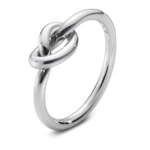 Mestergull Love Knot ring i sølv GEORG JENSEN Love Knot Ring