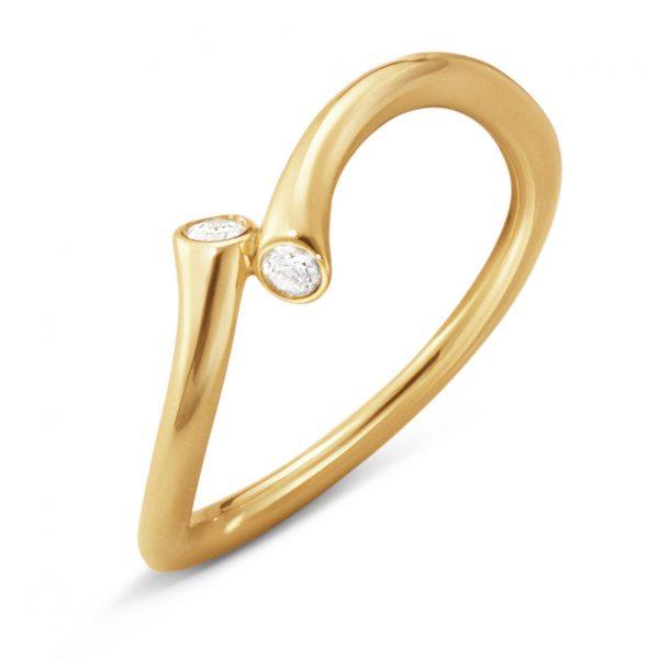 Mestergull Magic Ring i 18 K Gult Gull med diamanter GEORG JENSEN Magic Ring