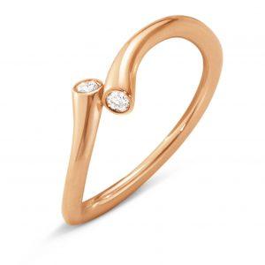 Mestergull Magic Ring i 18 K Rosé gull med diamanter GEORG JENSEN Magic Ring