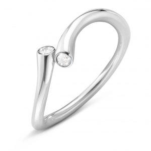 Mestergull Magic Ring i 18 K Hvitt Gull med diamanter GEORG JENSEN Magic Ring