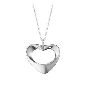 Mestergull Koppel Medium Heart Anheng i sølv GEORG JENSEN Heart Anheng