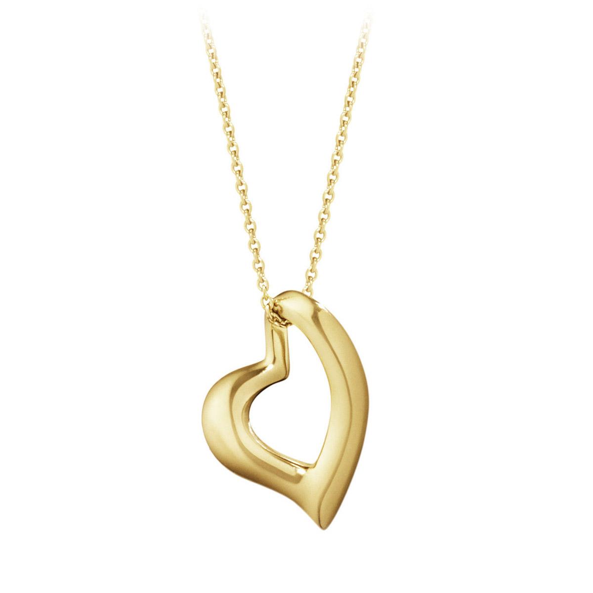 Mestergull Heart anheng i 18 K Gult Gull GEORG JENSEN Heart Anheng
