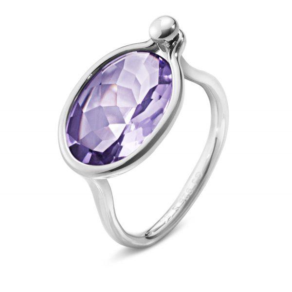 Mestergull Savannah Medium Ring i sølv med blå amethyst GEORG JENSEN Savannah Ring
