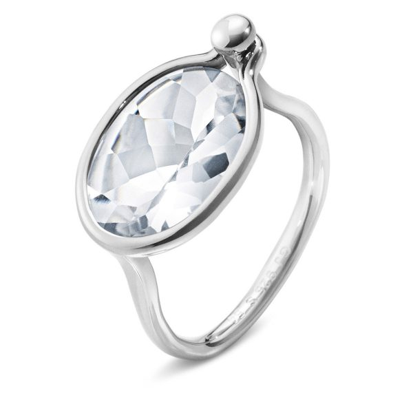 Mestergull Savannah Medium Ring i sølv med bergkrystall GEORG JENSEN Savannah Ring