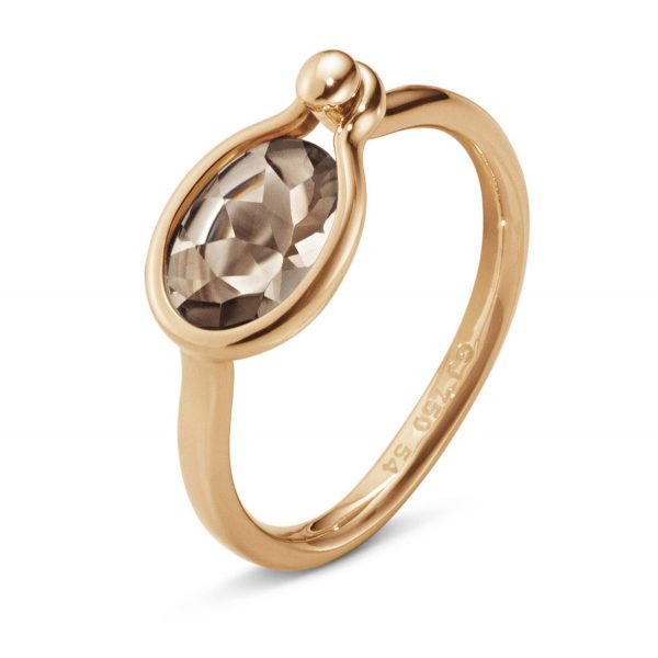 Mestergull Savannah Small Ring i 18 K Rosé gull med Røkkvarts GEORG JENSEN Savannah Ring