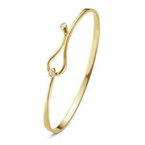 Mestergull Magic armring i 18 K Gult Gull med diamanter GEORG JENSEN Magic Armring