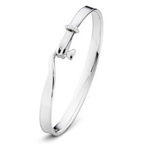 Mestergull Torun Armring i sølv med diamanter GEORG JENSEN Torun Armring