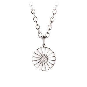 Mestergull Daisy anheng i sølv med hvit emalje GEORG JENSEN Daisy Anheng