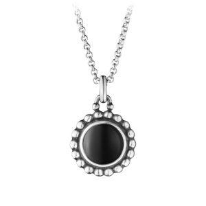 Mestergull Moonlight anheng i sølv med onyx GEORG JENSEN Anheng