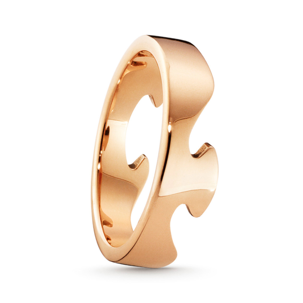Mestergull Fushion ende ring i 18kt. rosè gull GEORG JENSEN Fusion Ring