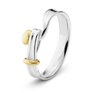 Mestergull Torun Ring i sølv med gulldetaljer i 18 K Gult Gull GEORG JENSEN Torun Ring